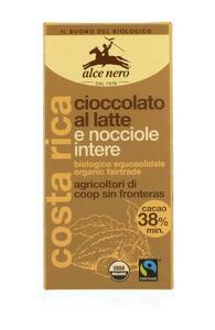 фото ALCE NERO Шоколад Молочный с лесным орехом 100 г