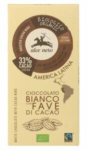 фото ALCE NERO Шоколад Белый с дроблеными зернами какао плиточный  100 г