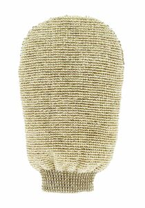 фото FORSTERS NATURAL Мочалка-варежка массажная двухсторонняя из органических льна и бамбука