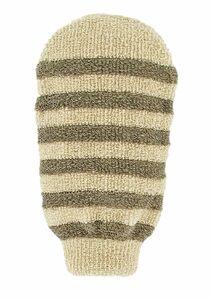 фото FORSTERS NATURAL Мочалка-варежка массажная полосатая из органических хлопка и льна