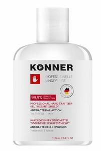 фото KÖNNER Гель-антисептик для рук 'Жидкие перчатки' с антибактериальным эффектом профессиональный 100 мл