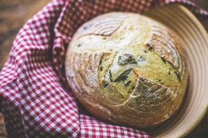 фото SASHA BREAD BAKERY Пшеничный на оливковом масле с базиликом, 430г*