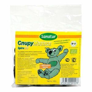 фото SANATUR Желейные конфеты Спирумишки с биоспирулиной 100 г