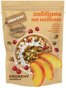 фото VERESTOVO Кранчи-гранола персик клюква семена тыквы 300 г