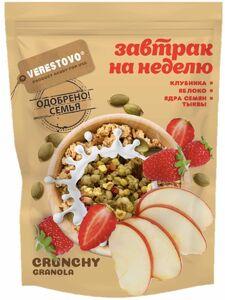 фото VERESTOVO Кранчи-гранола клубника яблоко семена тыквы 300 г