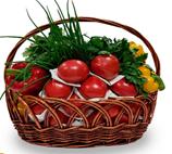 фото Подарочная корзина овощная маленькая