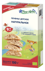 фото ФЛЁР АЛЬПИН Печенье детское Натуральное с 6 мес 150 г