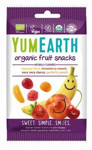 фото YUMEARTH Мармелад жевательный органический со вкусами Клубника, Вишня, Персик, Банан 50 г