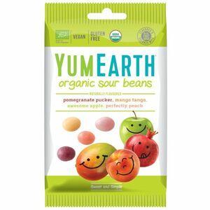фото YUMEARTH Мармеладные жевательные конфеты-драже органические со вкусами Манго, Гранат, Персик, Яблоко 50 г