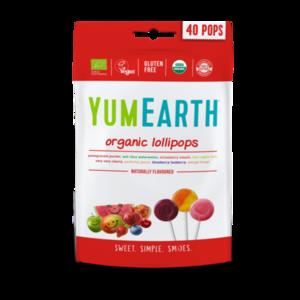 фото YUMEARTH Леденцы на палочке органические в ассортименте, 8 вкусов, 40 шт. 241 г