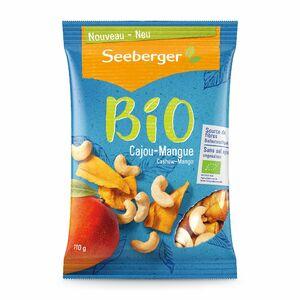 фото SEEBERGER BIO Смесь обжаренных ядер кешью и сушёного манго 110 г