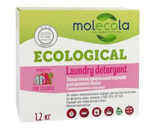 фото MOLECOLA Стиральный порошок для цветного белья с растительными энзимами 1200 г
