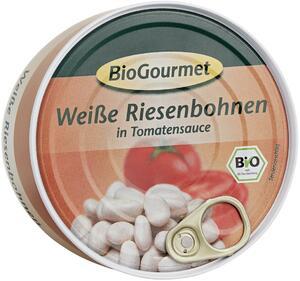 фото BIOGOURMET Фасоль белая крупная в томатном соусе 280 г*(-)