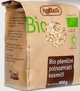 фото NATURA BIO Хлопья пшеничные цельнозерн 500 г