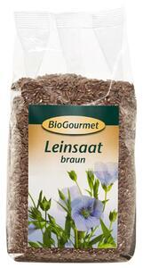 фото BIOGOURMET Семена льна коричневые 250 г
