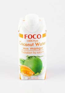 фото FOCO Вода кокосовая с манго 330 мл