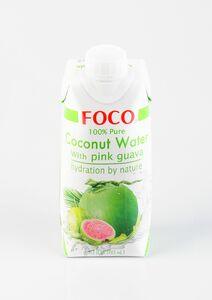 фото FOCO Вода кокосовая с розовой гуавой 330 мл