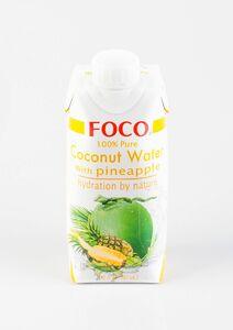 фото FOCO Вода кокосовая с соком ананаса 330 мл