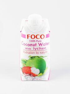 фото FOCO Вода кокосовая с соком личи 330 мл