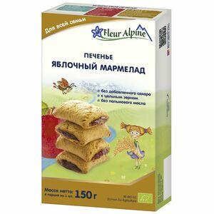 фото ФЛЁР АЛЬПИН Печенье детское Яблочный мармелад с 18 мес 150 г