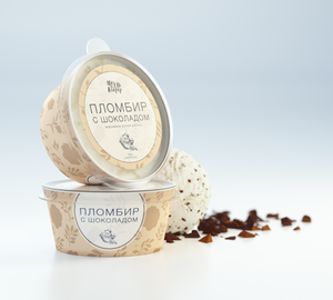 фото _МЁД И КЛЕВЕР Мороженое Пломбир с шоколадом 190 мл