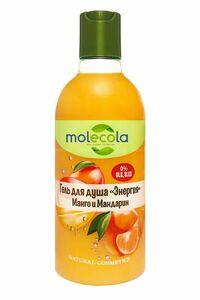 фото MOLECOLA Гель для душа Энергия Тропическое манго и мандарин 400 мл