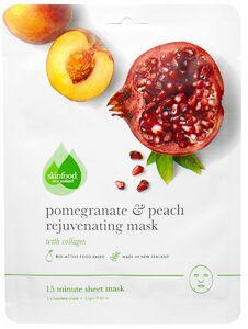 фото SKINFOOD Тканевая маска для лица разглаживающая Гранат и персик
