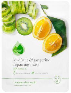 фото SKINFOOD Тканевая маска для лица восстанавливающая Киви и танжерин