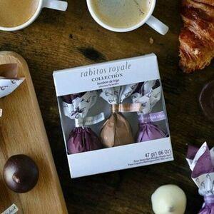 фото RABITOS Конфеты Инжир в чёрном, молочном и белом шоколадах 'Коллекция 3 вкуса' (3 шт.) 47 г