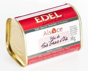 фото EDEL Печень гусиная, блок ручной работы (жесть) 145 г