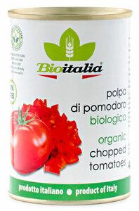 фото BIOITALIA Томаты очищенные в томатном соке резаные ж/б 400 г