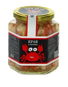 фото RED CRAB Мясо камчатского краба в солевой заливке. Сорт «Экстра». Био. 400Г