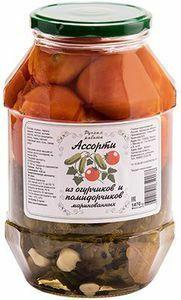 фото КФХ ХРАМЦОВА Ассорти из огурчиков и помидорчиков 1470 г