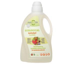 фото MOLECOLA Гель для стирки детского белья Для чувствительной кожи Pure Sensitive экологичный 1500 мл