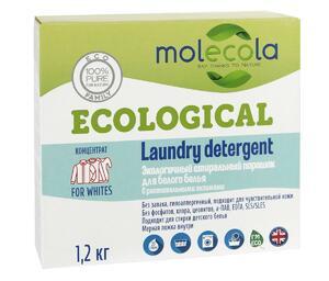 фото MOLECOLA Стиральный порошок для белого белья с растительными энзимами 1200 г