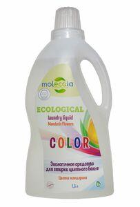 фото MOLECOLA Универсальный гель для стирки цветного белья Цветы мандарина экологичный 1500 мл
