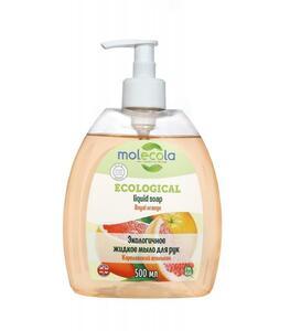 фото MOLECOLA Жидкое мыло для рук Апельсин экологичное 500 мл