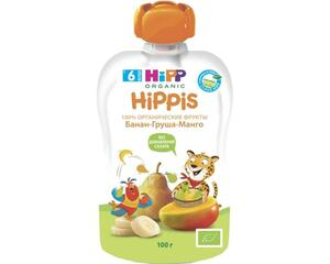 фото HIPP Пюре банан-груша-манго с 6 мес пауч 100 г