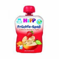 фото HIPP Пюре яблоко-клубника-банан с 6 мес пауч 100 г