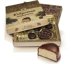 фото СИБИРСКИЙ КЕДР Конфеты Марципан кедровый в шоколадной глазури 170 г