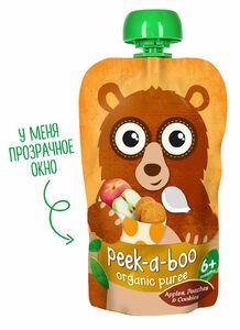 фото PEEK-A-BOO Пюре фруктовое из яблок-персиков со вкусом печенья с 6 мес 113 г