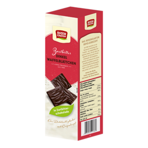 фото ROSENGARTEN Вафельные листочки из полбы в горьком шоколаде Веган 125 г