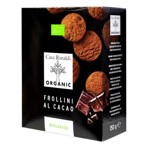 фото CASA RINALDI Печенье Фролини с какао и кусочками шоколада BIO 150 г