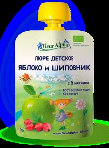 фото ФЛЁР АЛЬПИН Пюре яблоко-шиповник с 5 мес пауч 90 г