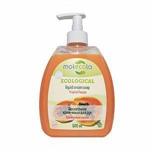 фото MOLECOLA Жидкое мыло для рук Тропическая Папайя экологичное 500 мл