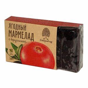 фото СИБИРСКИЙ КЕДР Мармелад ягодный с брусникой 200 г