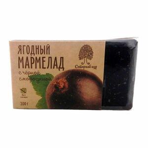 фото СИБИРСКИЙ КЕДР Мармелад ягодный с чёрной смородиной 200 г