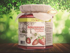 фото ДИКОРУС Земляника протертая с сахаром 250 гр