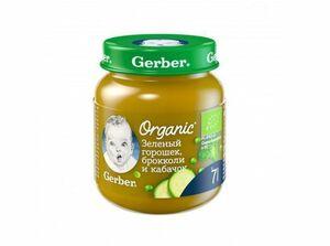 фото GERBER Органик пюре Зелёный горошек-брокколи-кабачок с 7 мес 125 г