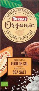 фото TORRAS Горький шоколад безглютеновый ОРГАНИК 70% с морской солью 100 г Испания